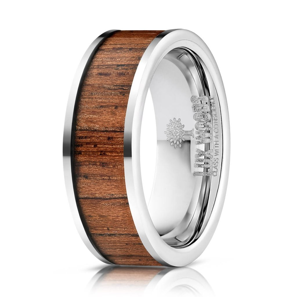 metal and wood ring photography