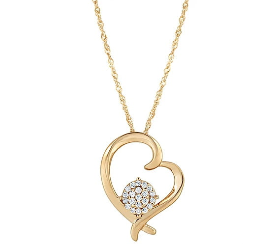 Gold Heart Pendant photography