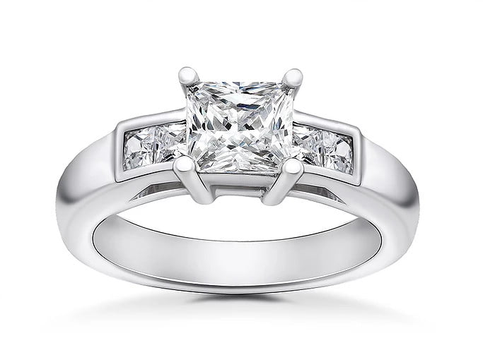 Princess cut ring photography