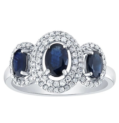 Blue diamond Ring photography