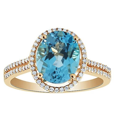 Blue Topaz Ring photography