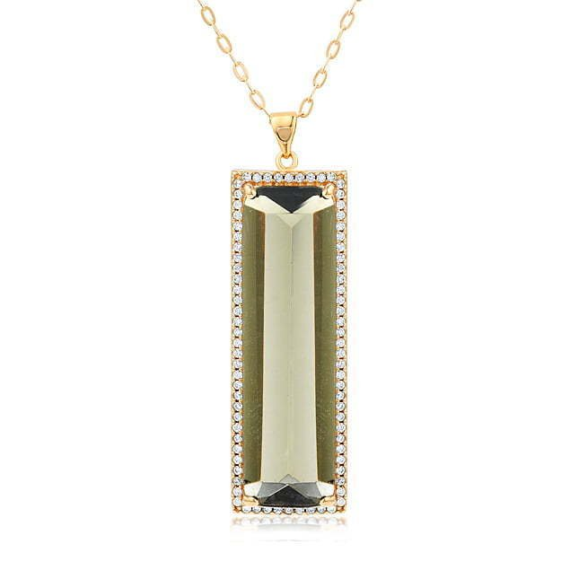 A picture of a green pendant