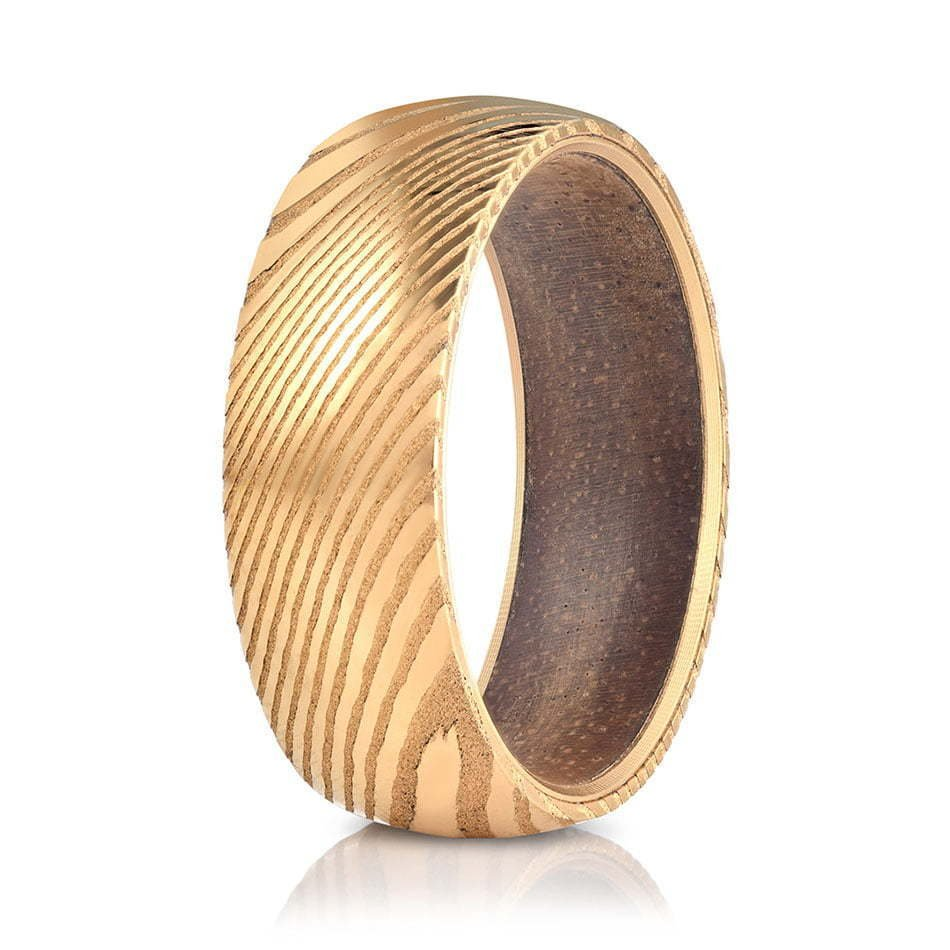 Wood ring on white