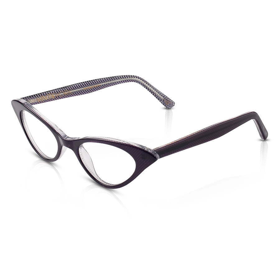 dark framed cat eye shape eye glasses photography