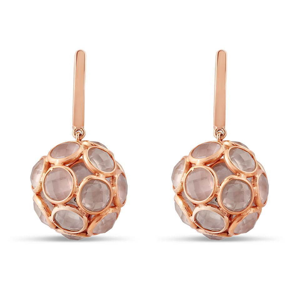 pair of dangling earrings with circle stones photography