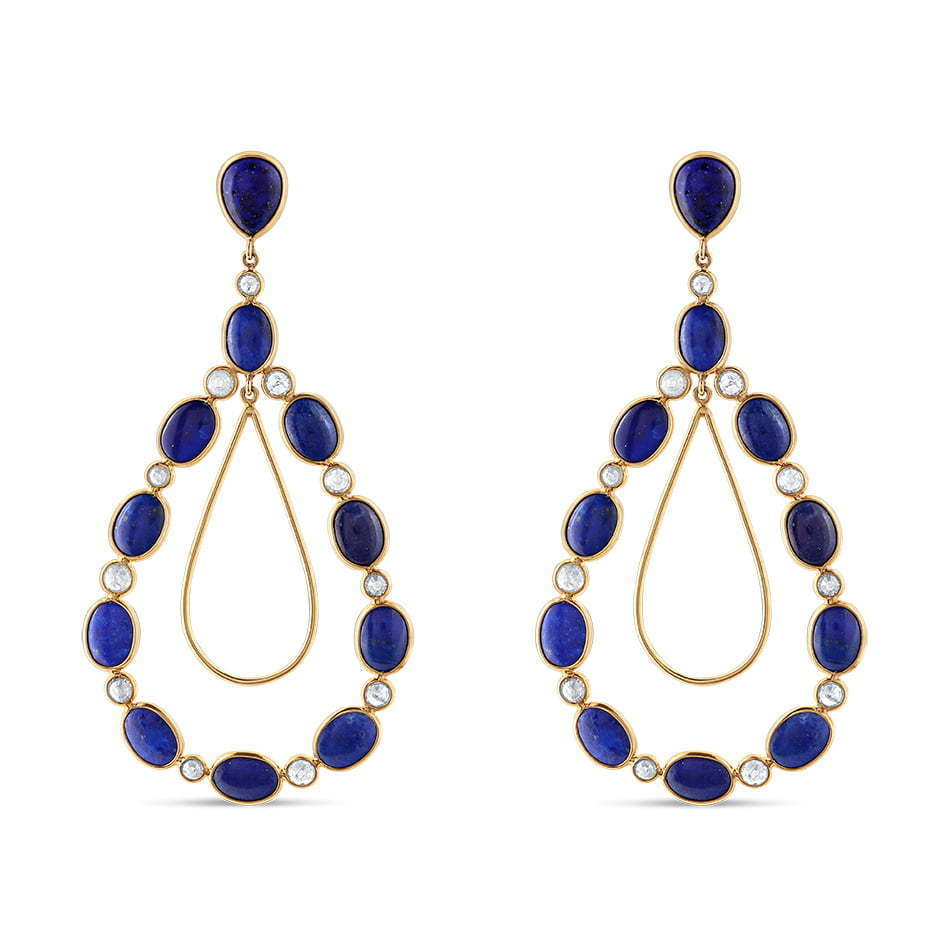 pair of blue stone earrings jewelry photography