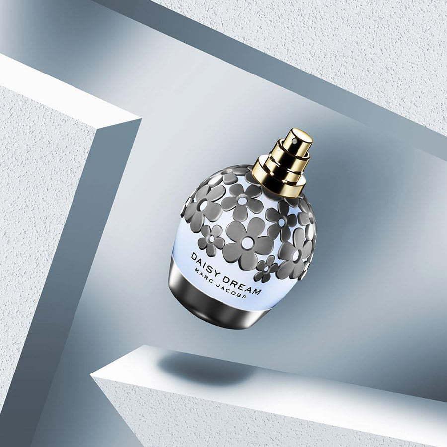 marc jacobs daisy dream perfume on a geometric wall custom photography
