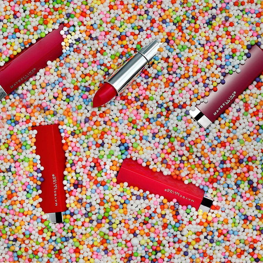 lipstick in sprinkles custom photography