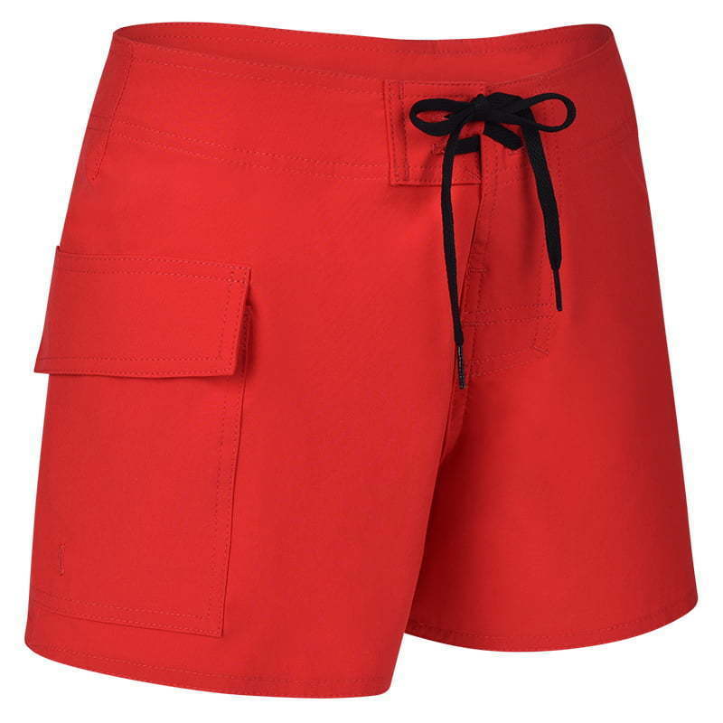 926-Red-Women's Stretch Lifeguard Board Short-Right Side 45 copy