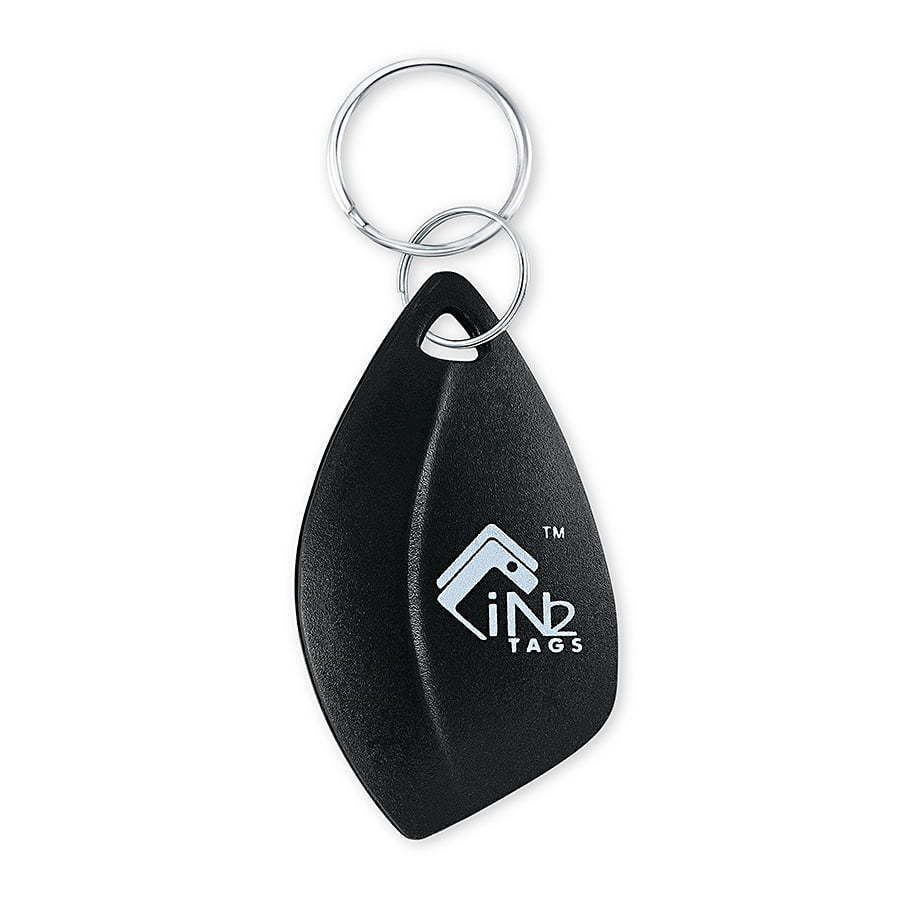 black keychain with metal clip