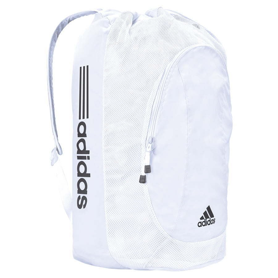 white Adidas sports equipment soccer backpack photography