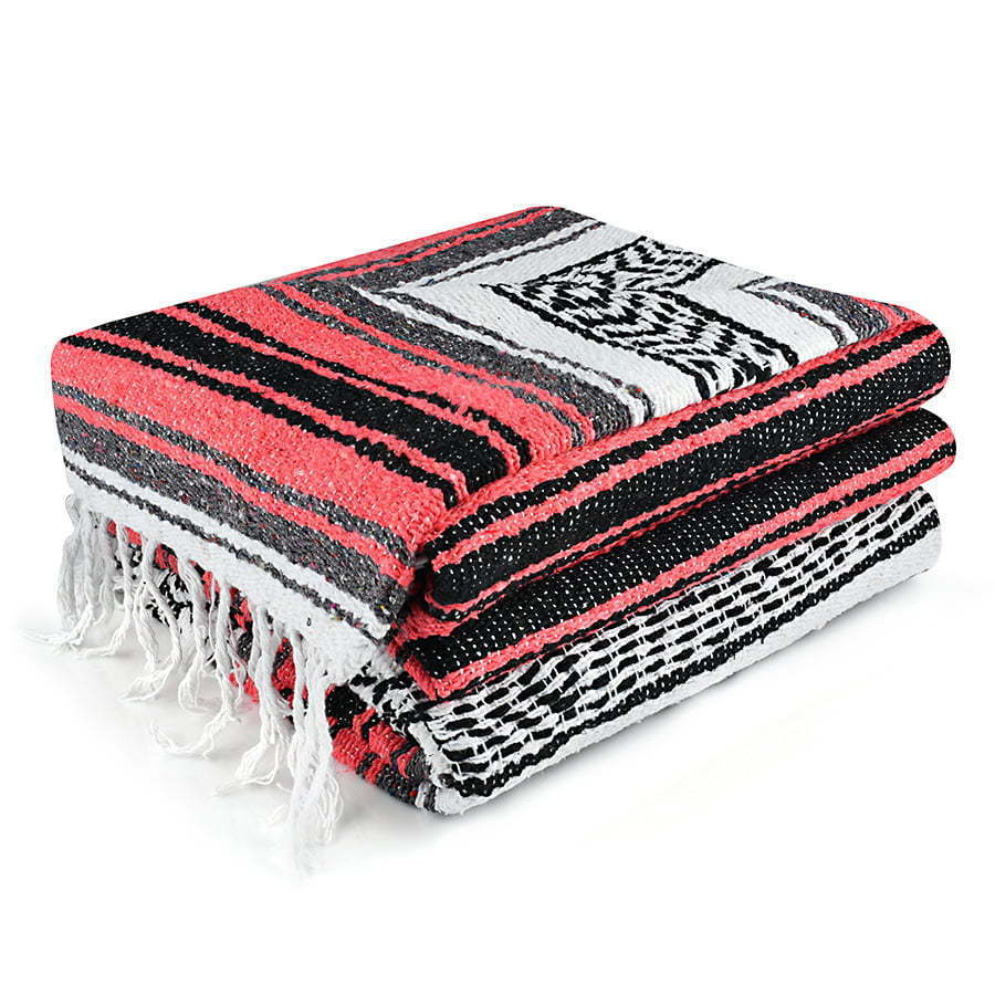 picture of a red and black blanket