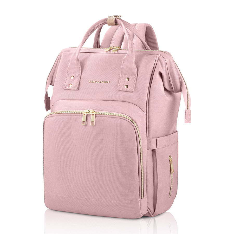 pink baby diaper bag side image photography