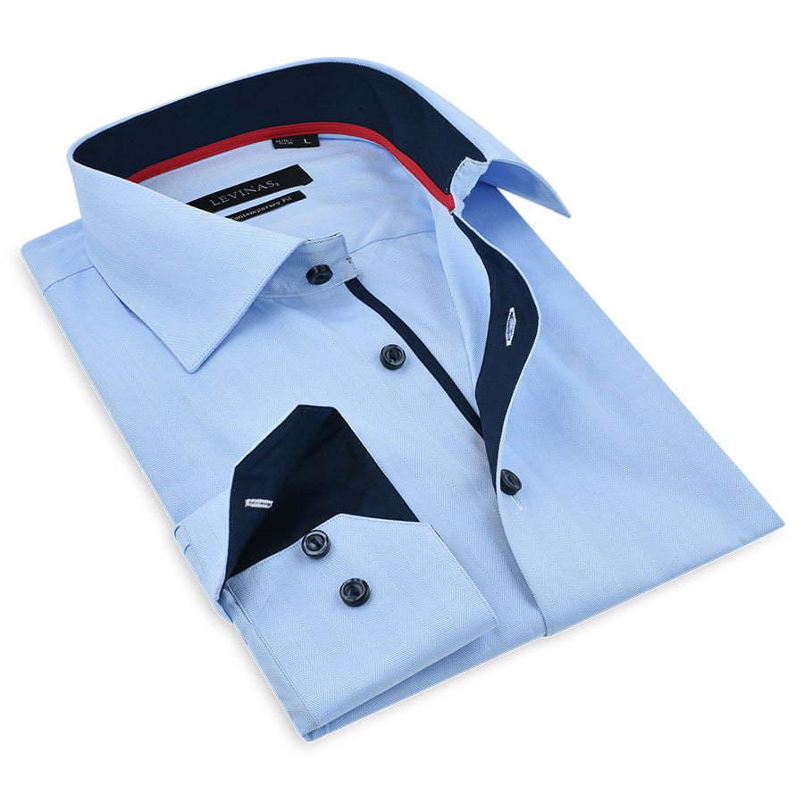 Blue-dressy-shirt-folded-photography