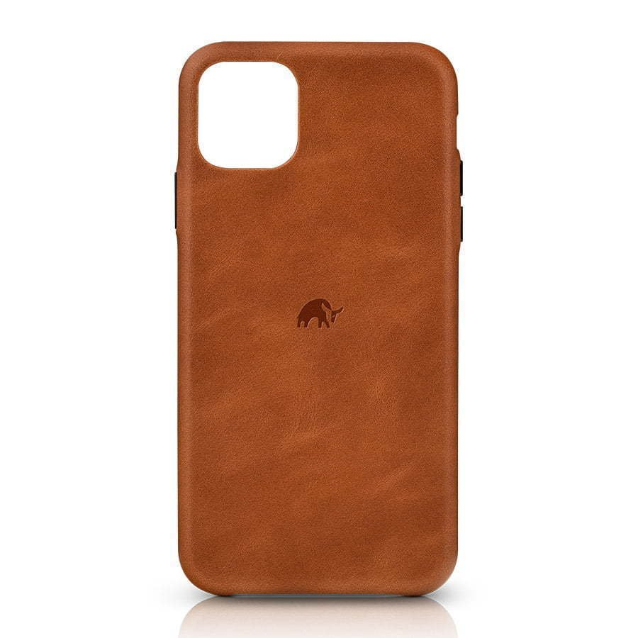 Brown leather iphone case photography