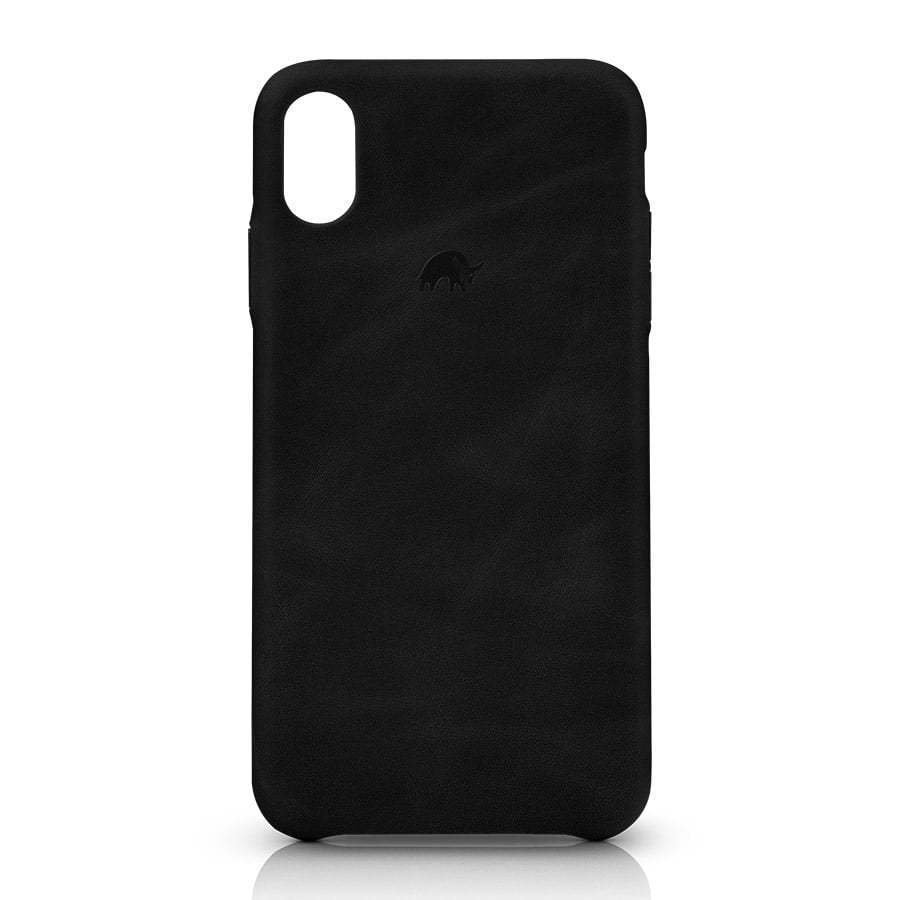 Black leather iphone case photography