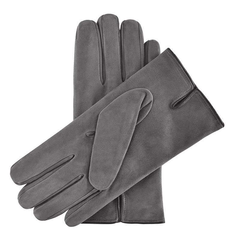 a pair of grey gray leather gloves apparel photography