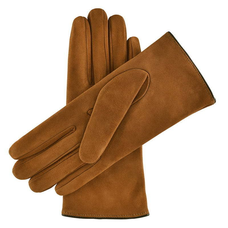 a pair of light brown leather gloves apparel photography