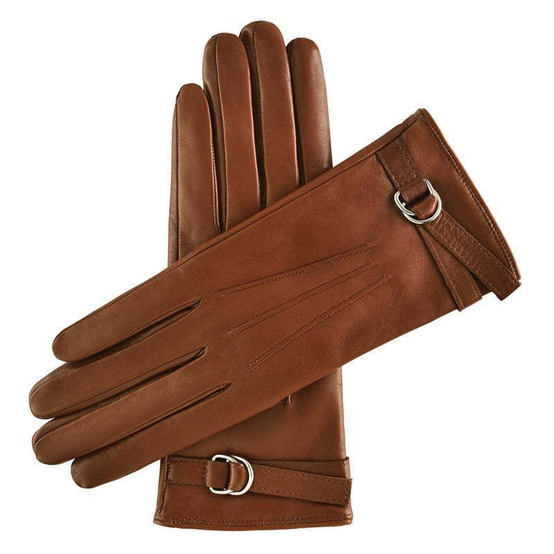 brown leather gloves with buckle detail apparel photography