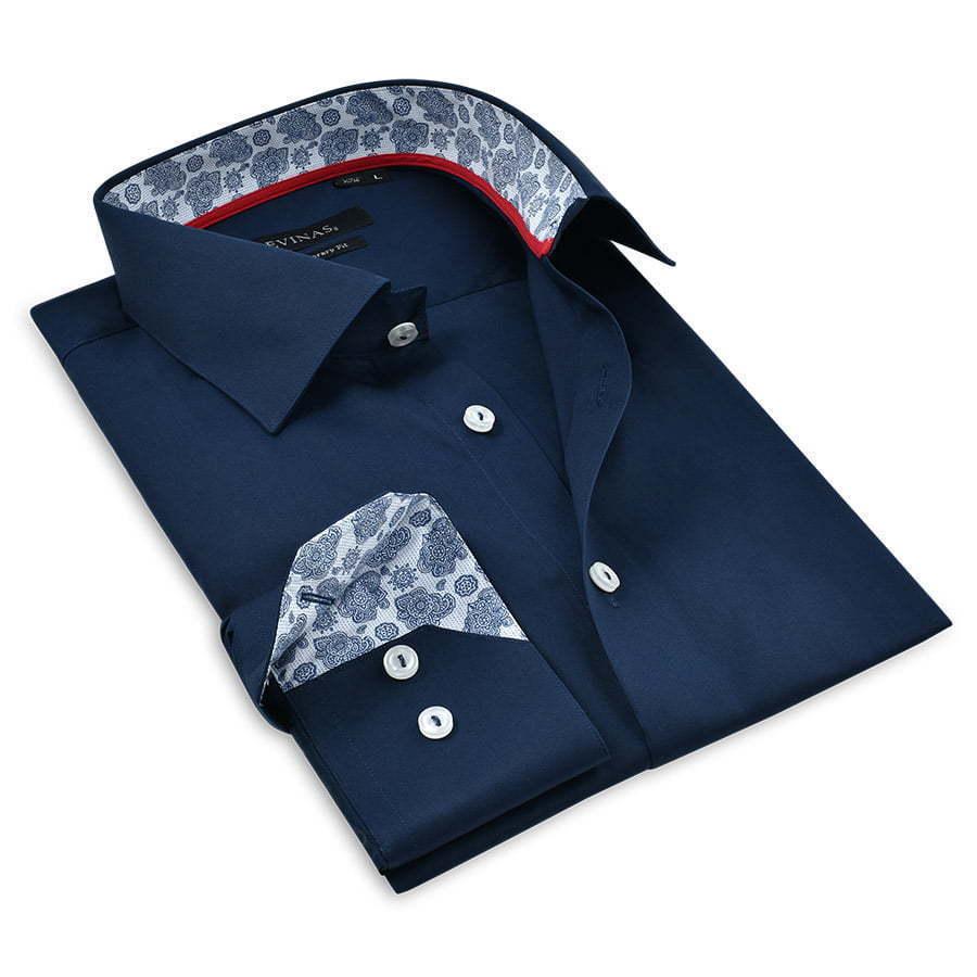 Dark-blue-Dressy-shirt-folded-photography