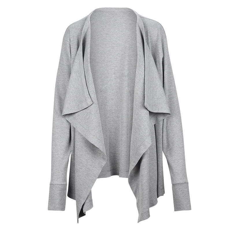grey cardigan sweater ghost mannequin apparel photography