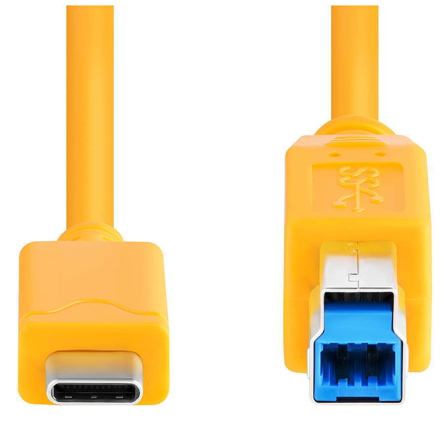 USB yellow cord photography