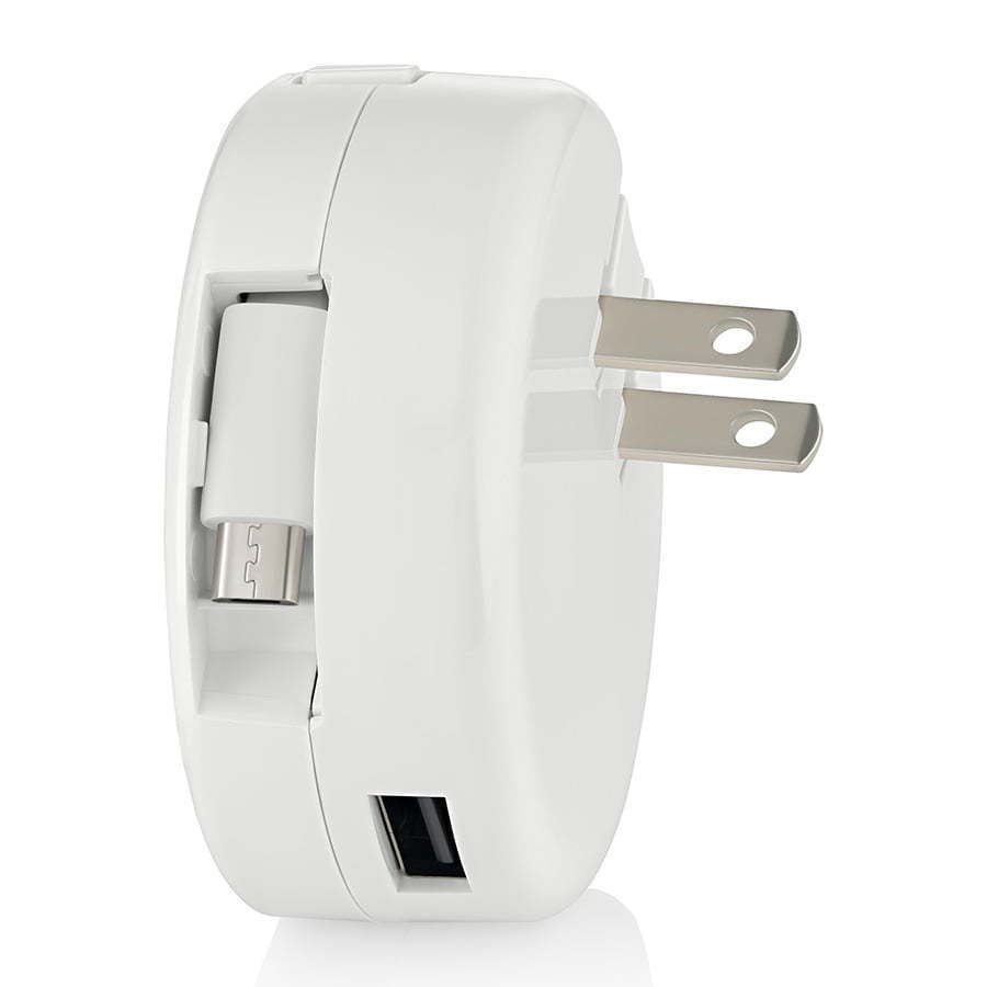 white retractable wall charging plug for phone photography