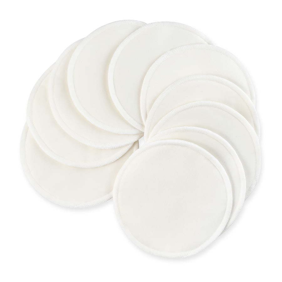small white reusable makeup removal fabric rounds photography