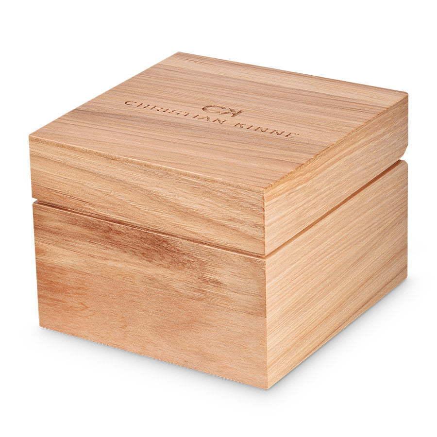 Wood jewelry box photography