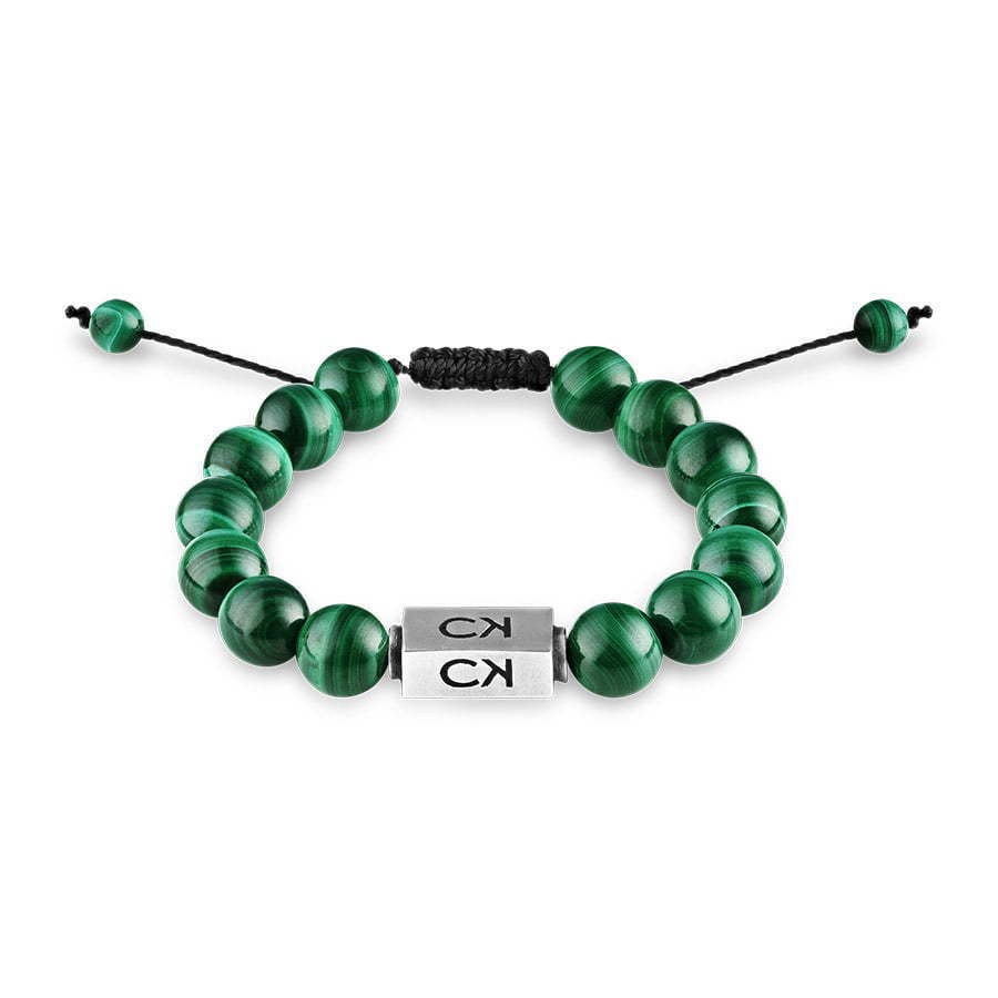 green stone bead bracelet with adjustable string jewelry photography