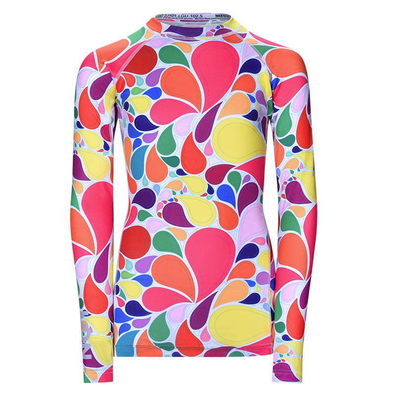 colorful  fitted women's sports shirt  ghost mannequin apparel photography