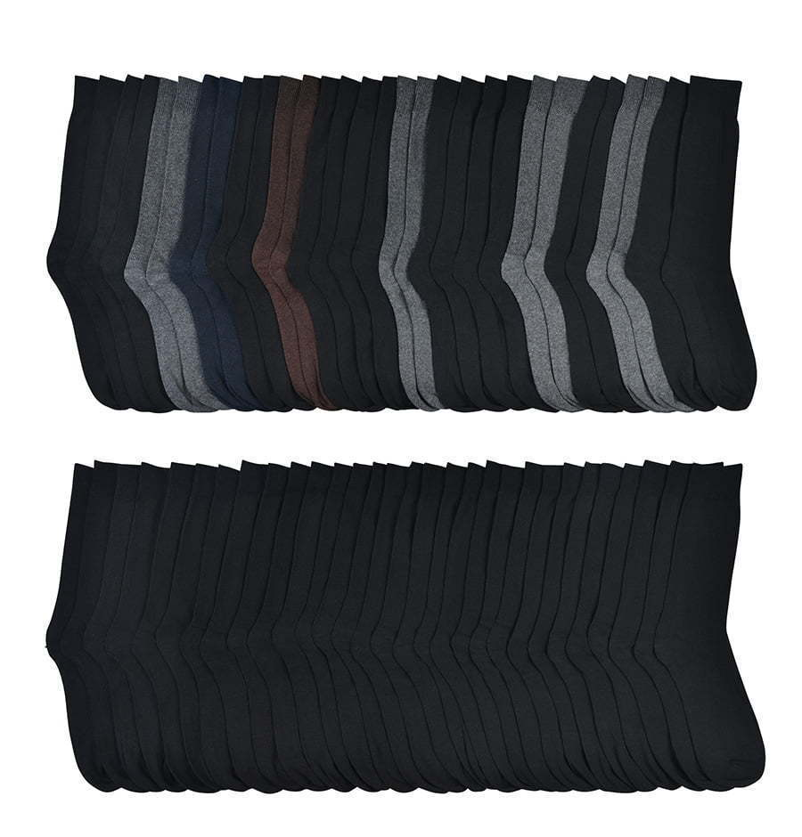large group of neutral colored and black dress socks lay flat photography