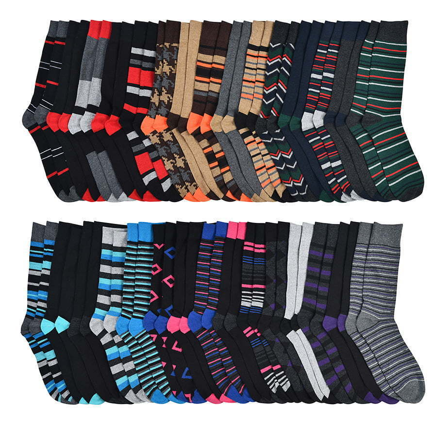 large group of multi-colored dress socks lay flat photography