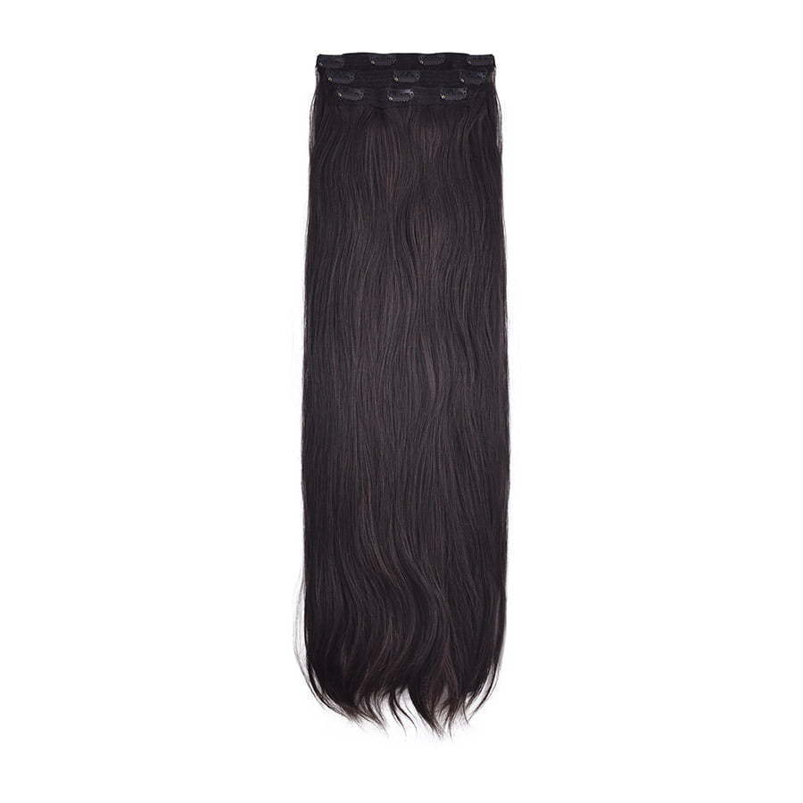 Dark brown hair extension weft photography