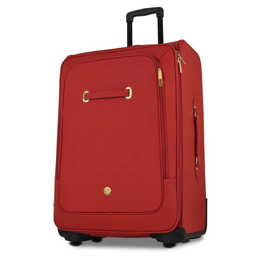 Red suitcase hero shot