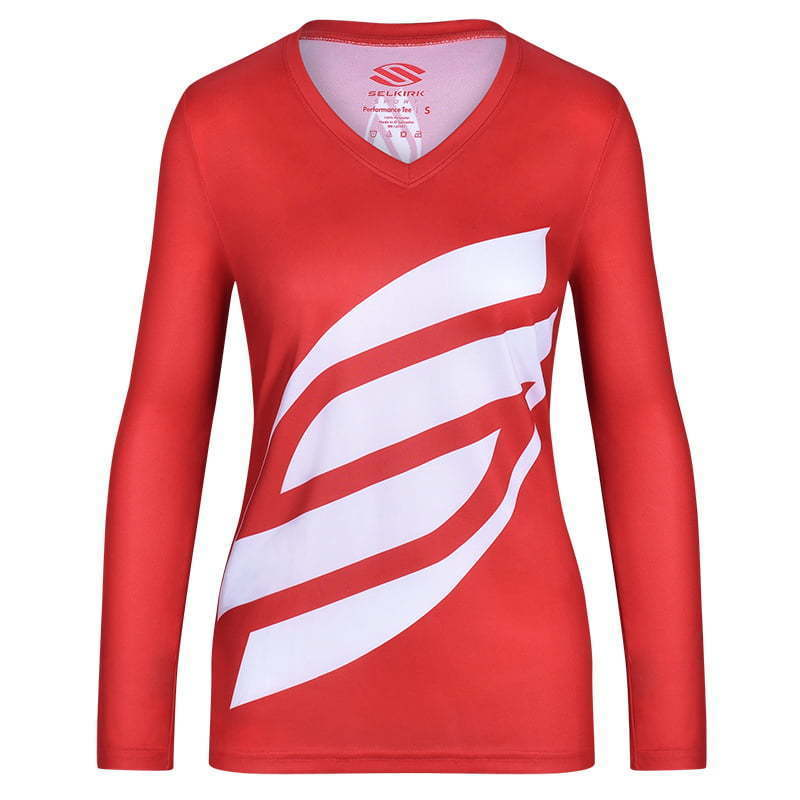 fitted red women's sports shirt  ghost mannequin apparel  photography