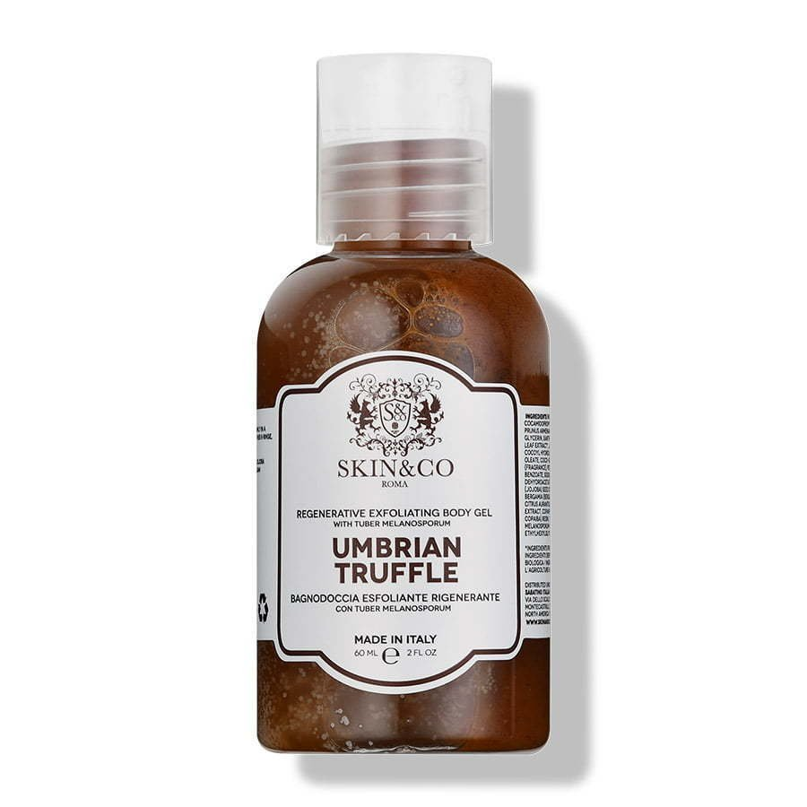 brown umbrian truffle soap in bottle photography