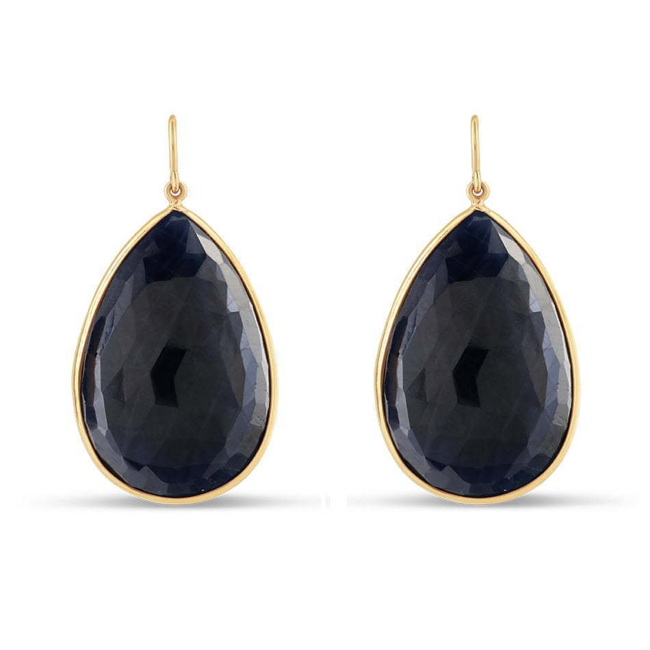 pair of black stone earring dangling jewelry photography