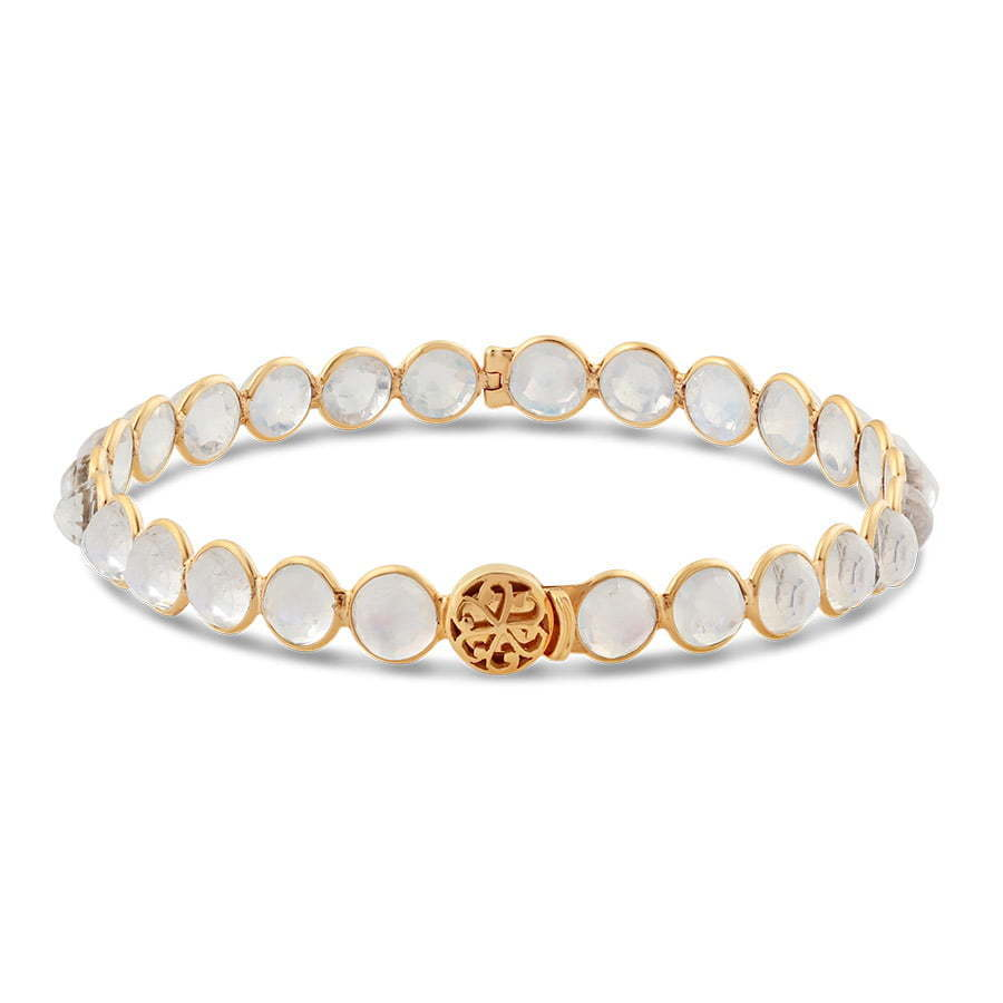 circle bracelet with white stones cuff photography