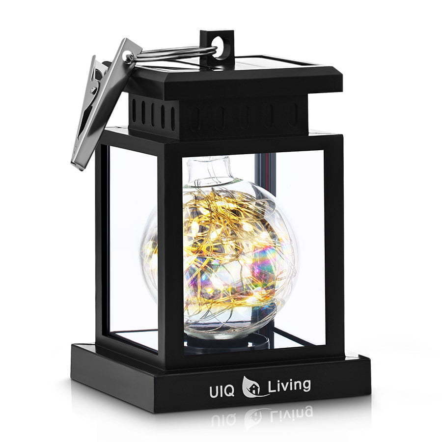 uv lamp outdoor lantern with fairy lights photography