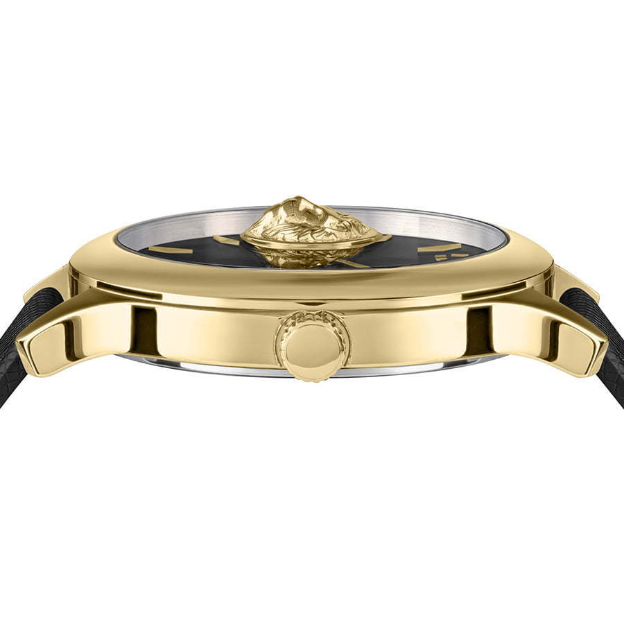Versus--front-side-gold-and-black-watch-photography