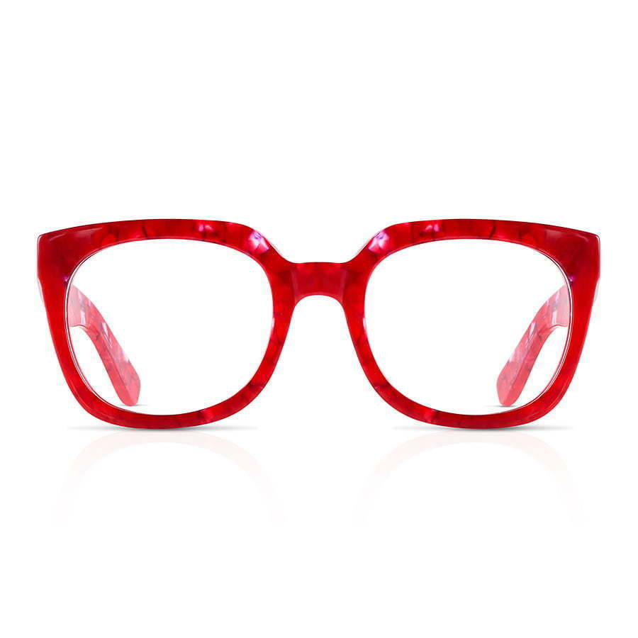 red  a pair of glasses photography