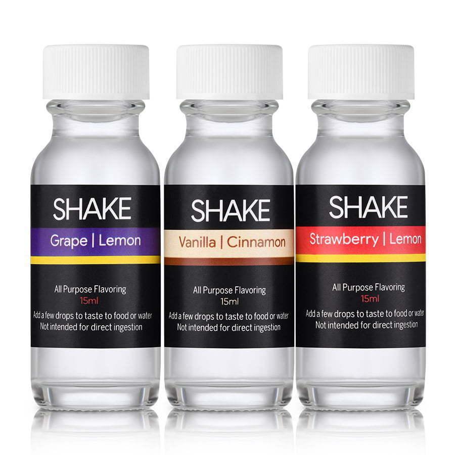 three vape liquid glass bottles group photography