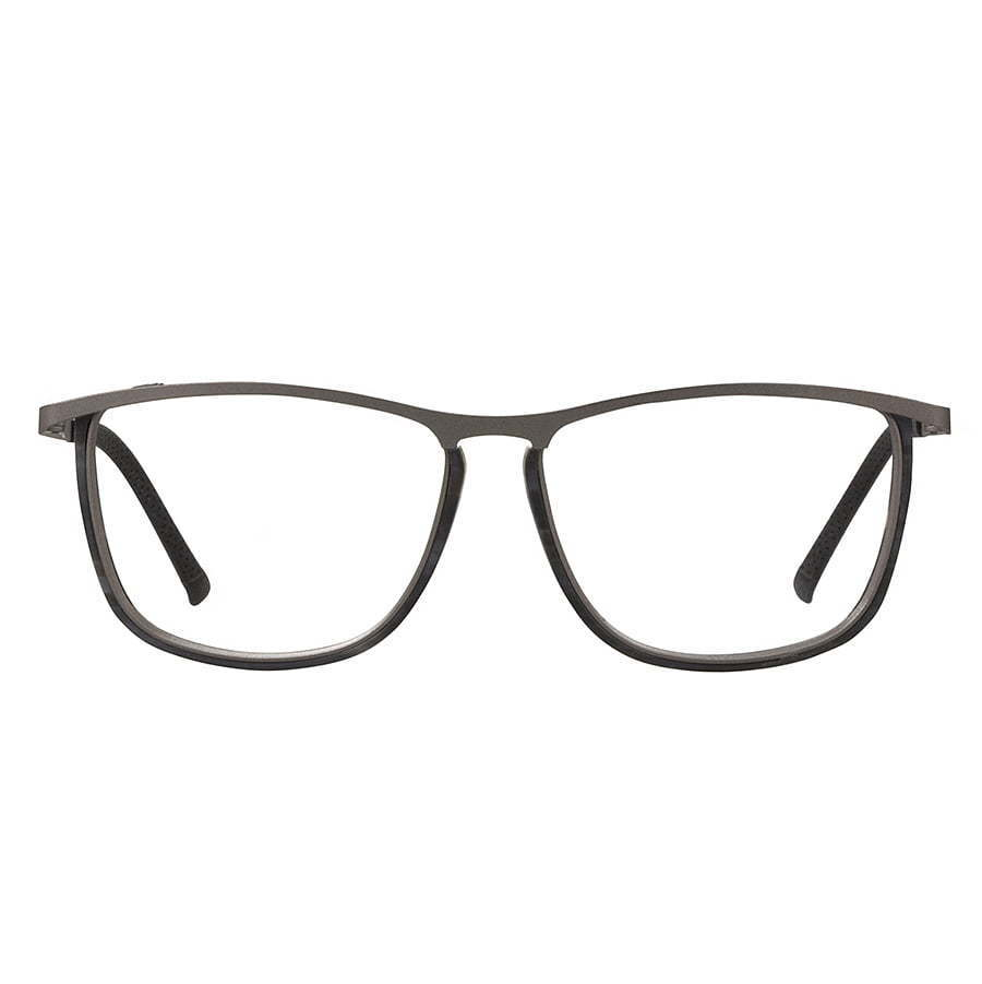 thin frame grey pair of glasses photography