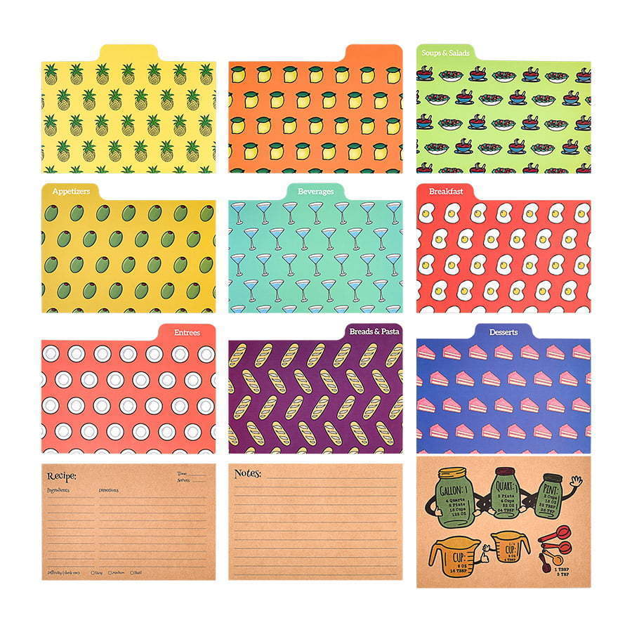 a group of colorful printed file folders  photography