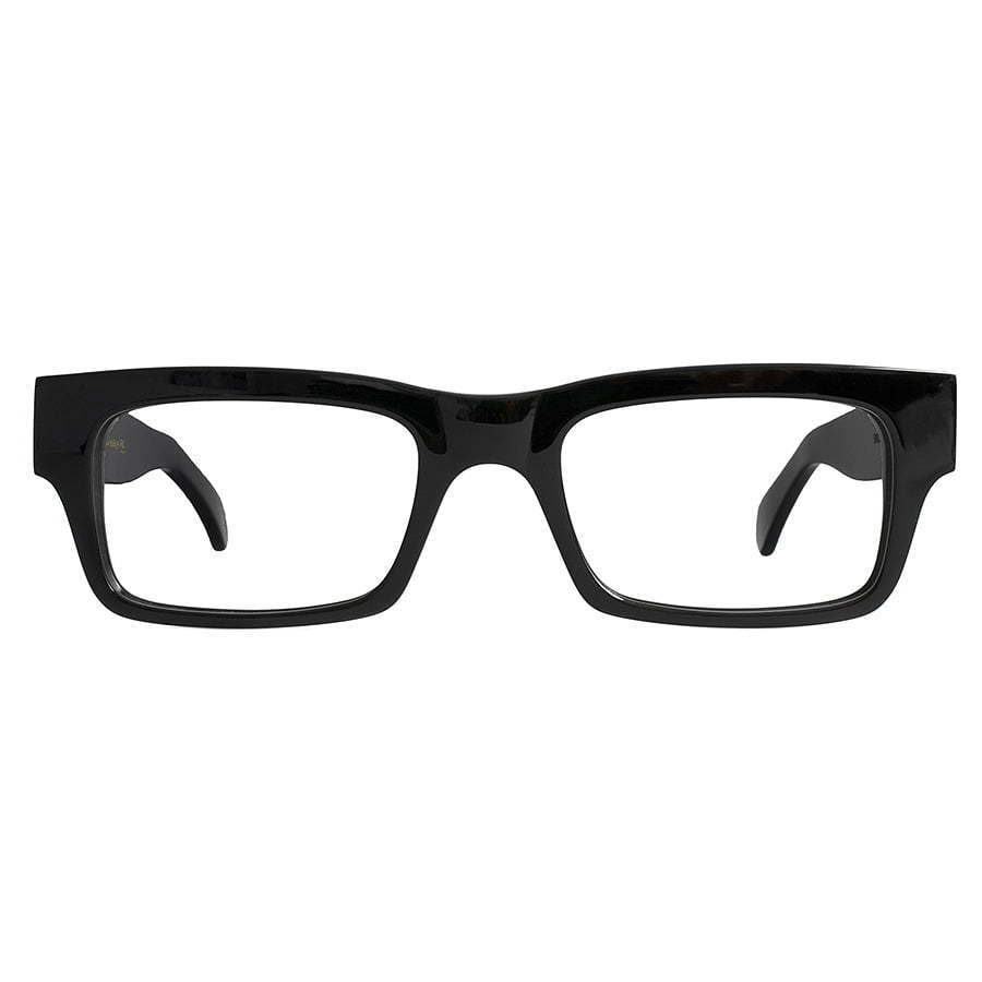pair of black rectangle framed eyeglasses  photography