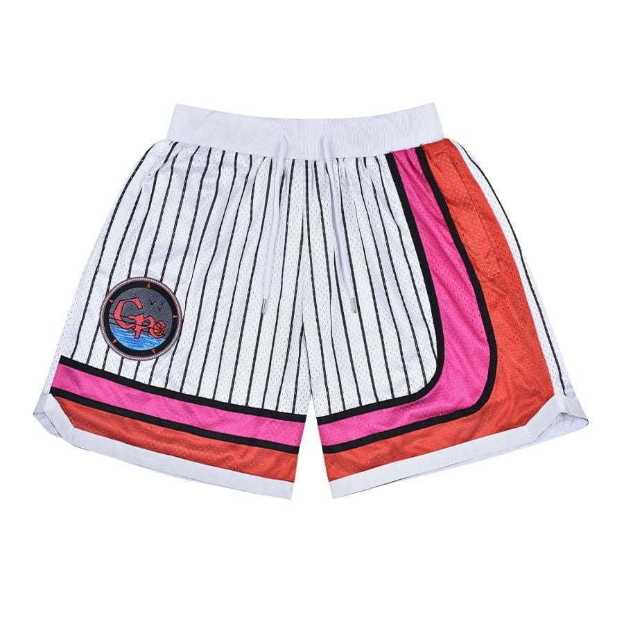 lay flat shorts white stripes