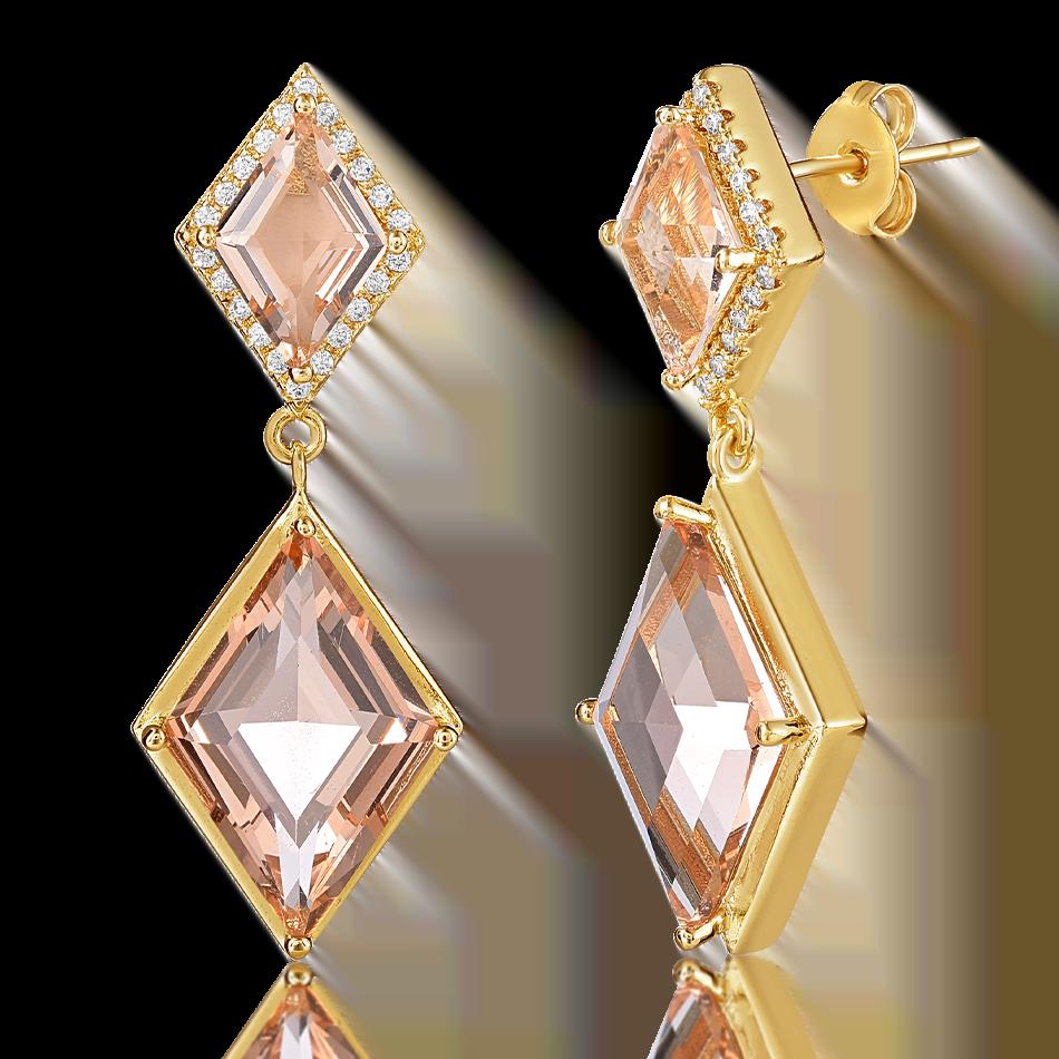 earrings gola pink gem 1