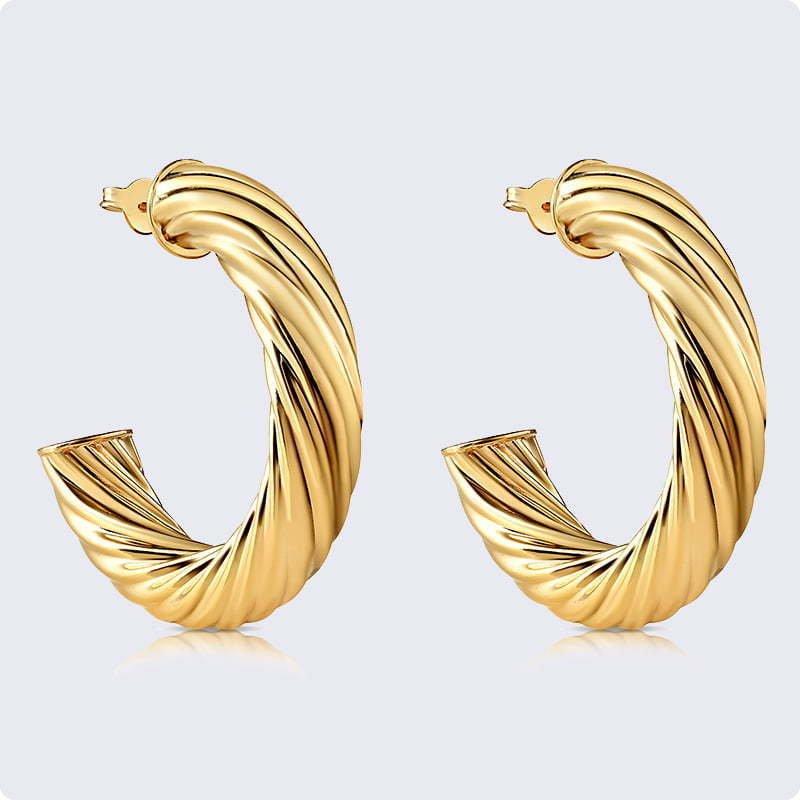 earrings yellow gold