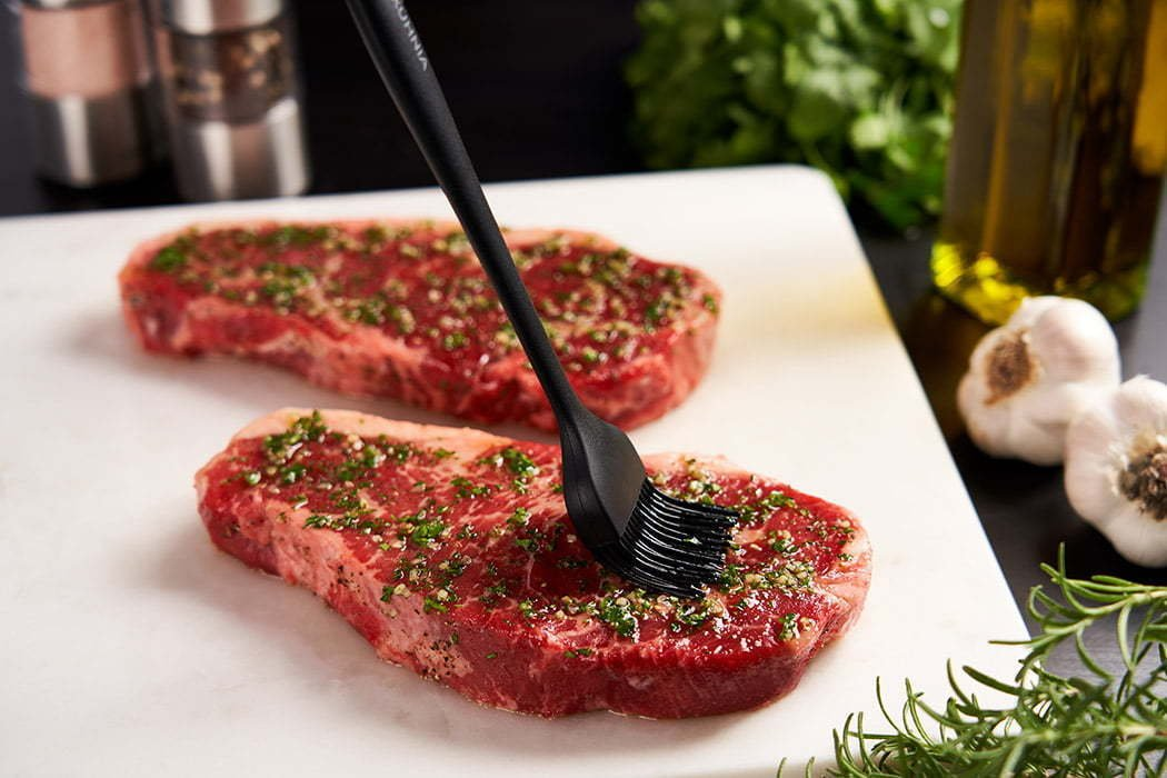 food photography of a raw steak